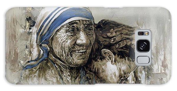 Mother Teresa Portrait  Galaxy Case