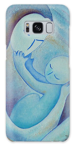 Motherhood Oil Painting Your Little Hands By Gioia Albano Galaxy Case