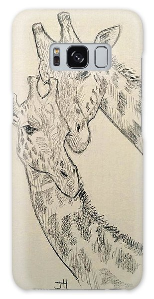 Galaxy Case featuring the drawing Motherly Knudge by Jennifer Hotai
