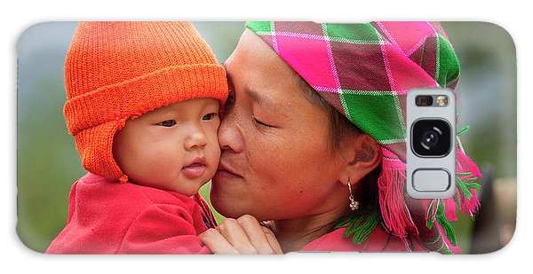 Galaxy Case featuring the photograph Motherly Love, Sa Pa, 2014 by Hitendra SINKAR