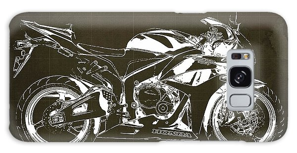 Blueprint Galaxy Case - Motorcycle Blueprint Honda Cbr600 Gift For Him Gift For Her by Drawspots Illustrations
