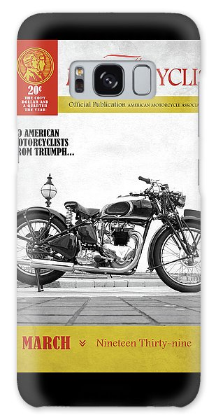 Magazine Cover Galaxy Case - Motorcycle Magazine Triumph Speed Twin 1939 by Mark Rogan