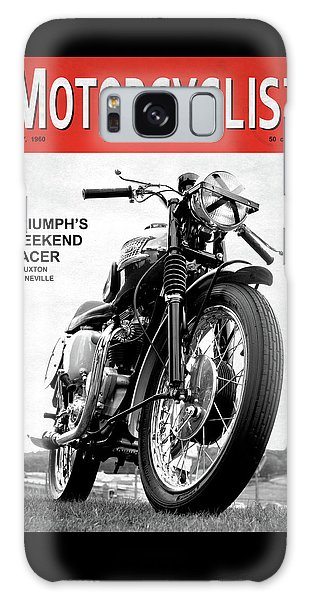 Magazine Cover Galaxy Case - Motorcycle Magazine Weekend Racer 1960 by Mark Rogan