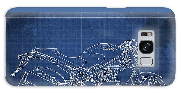 Blueprint Galaxy Case - Motorcycles Blueprints by Drawspots Illustrations