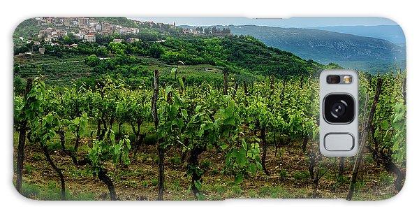 Motovun And Vineyards - Istrian Hill Town, Croatia Galaxy Case