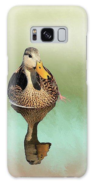 Mottled Duck Reflection Galaxy Case
