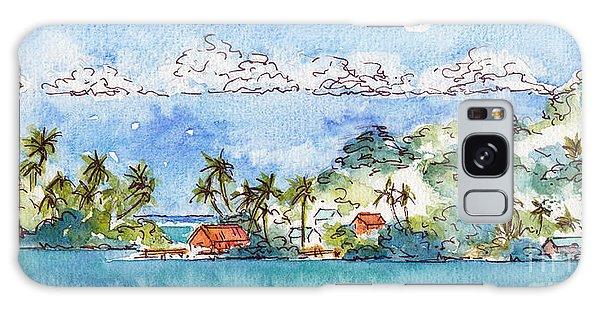 Motu Toopua Bora Bora Galaxy Case