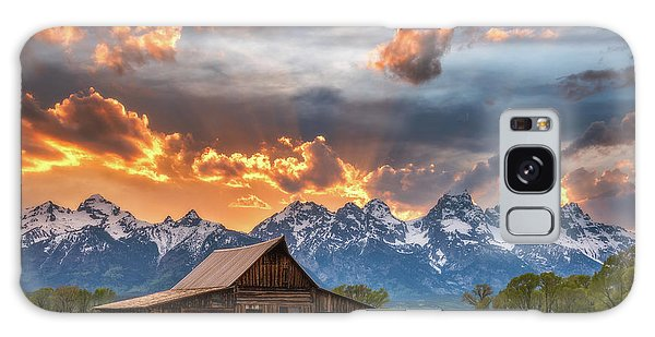Teton Galaxy Case - Moulton Barn Sunset Fire by Darren White