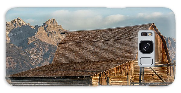 Galaxy Case featuring the photograph Moulton Homestead - Barn At Morning Light by Colleen Coccia