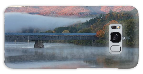 Mount Ascutney And Windsor Cornish Bridge Sunrise Fog Galaxy Case by John Burk