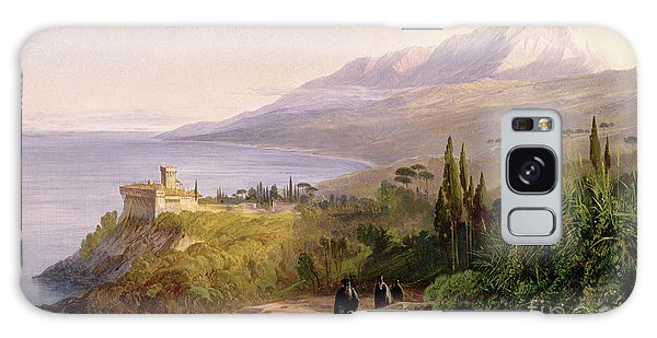 Mount Athos And The Monastery Of Stavroniketes Galaxy Case by Edward Lear