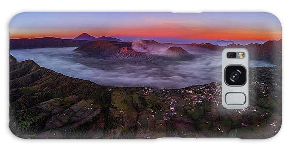 Mount Bromo Misty Sunrise Galaxy Case