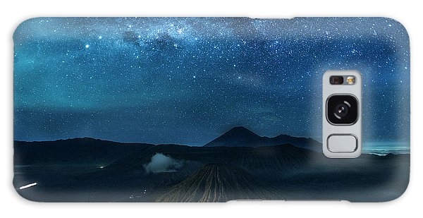 Mount Bromo Resting Under Million Stars Galaxy Case