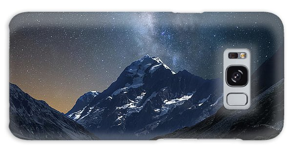 Mount Cook At Night Galaxy Case