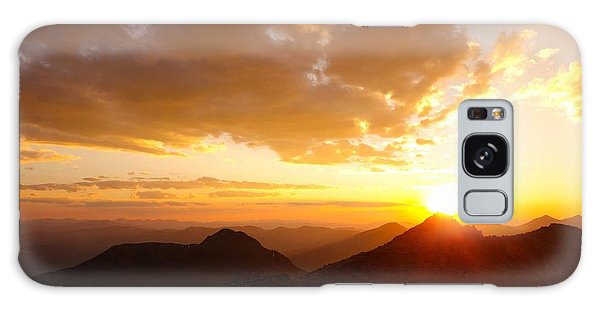 Mount Evans Sunset Galaxy Case