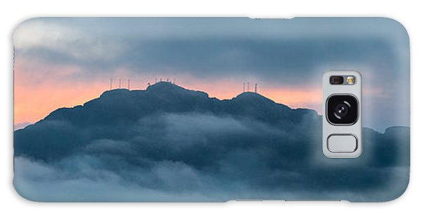 Mount Franklin Stormy Winter Sunset Pano Galaxy Case