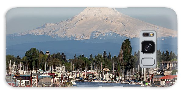 Mount Hood And Columbia River House Boats Galaxy Case