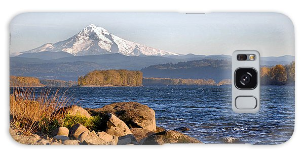 Mount Hood And The Columbia River Galaxy Case by Jim Walls PhotoArtist
