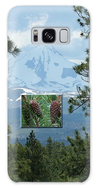 Mount Jefferson With Pines Galaxy Case
