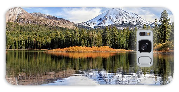Mount Lassen Reflections Panorama Galaxy Case by James Eddy