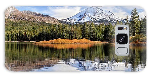 Mount Lassen Reflections Panorama Galaxy Case