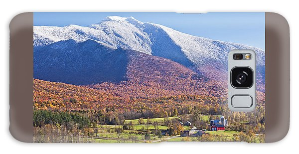 Mount Mansfield Autumn Snowfall Galaxy Case