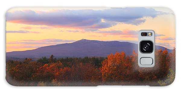 Mount Monadnock Autumn Sunset Galaxy Case by John Burk