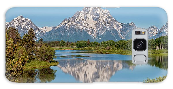 Teton Galaxy Case - Mount Moran On Snake River Landscape by Brian Harig