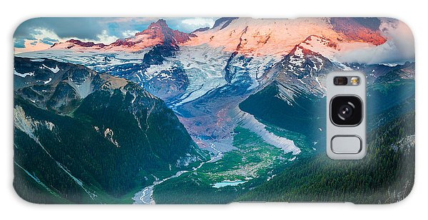 White Mountain National Forest Galaxy Case - Mount Rainier And White River by Inge Johnsson
