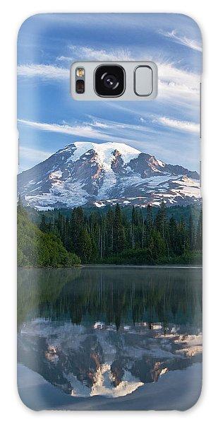 Mount Rainier Reflections Galaxy Case