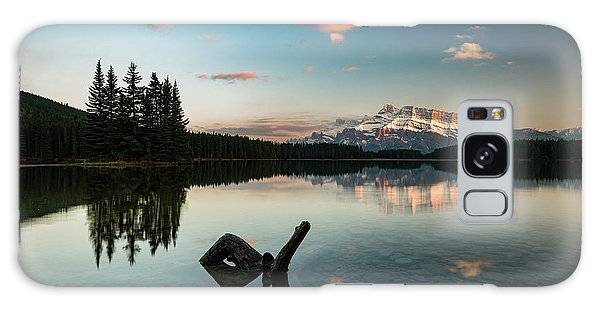 Mount Rundle And Two Jack Lake Galaxy Case