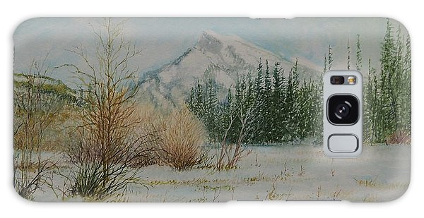 Mount Rundle In Winter Galaxy Case