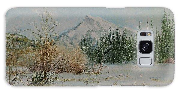 Mount Rundle In Winter Galaxy Case