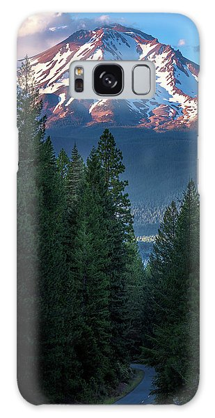 Mount Shasta - A Roadside View Galaxy Case