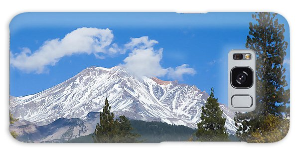 Mount Shasta California Galaxy Case by Yulia Kazansky
