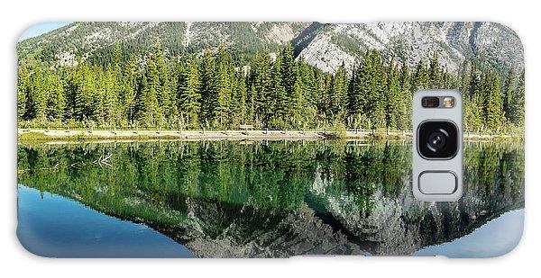 Mount Skogan Reflected In Mount Lorette Ponds, Bow Valley Provin Galaxy Case