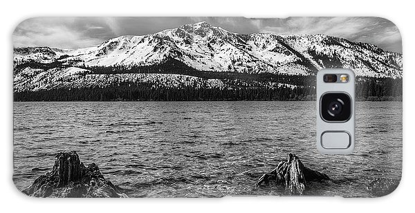 Thought Provoking Galaxy Case - Mount Tallac Black And White by Mitch Shindelbower