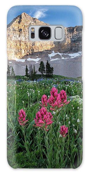 Mount Timpanogos Wildflowers Galaxy Case