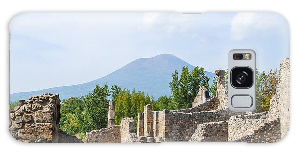 Mount Vesuvius Beyond The Ruins Of Pompei Galaxy Case