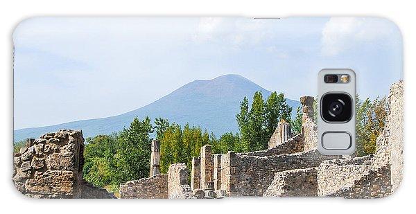 Mount Vesuvius Beyond The Ruins Of Pompei Galaxy Case by Allan Levin