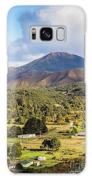 Countryside Galaxy Case - Mount Zeehan Valley Town. West Tasmania Australia by Jorgo Photography - Wall Art Gallery
