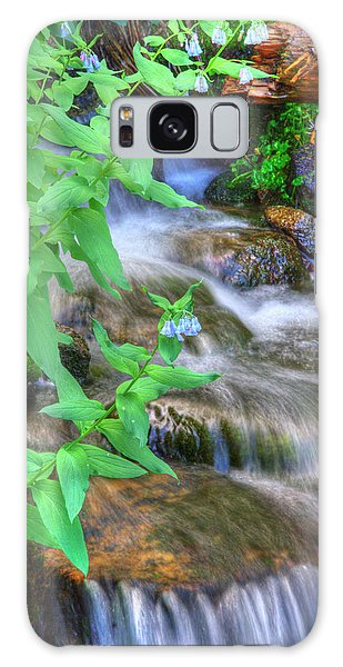 Mountain Bluebells Galaxy Case by Utah Images