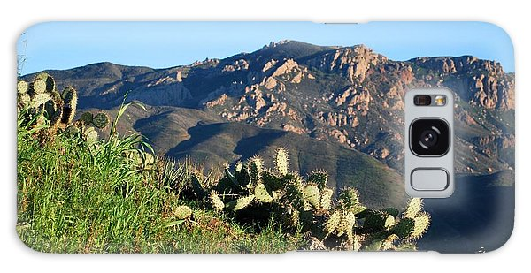 Mountain Cactus View - Santa Monica Mountains Galaxy Case