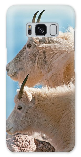 Galaxy Case featuring the photograph Mountain Goats by Gary Lengyel