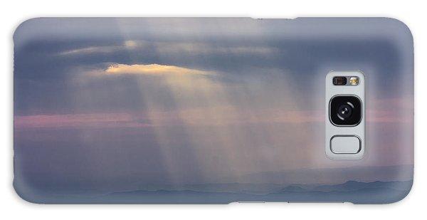 Mountain God Rays Galaxy Case