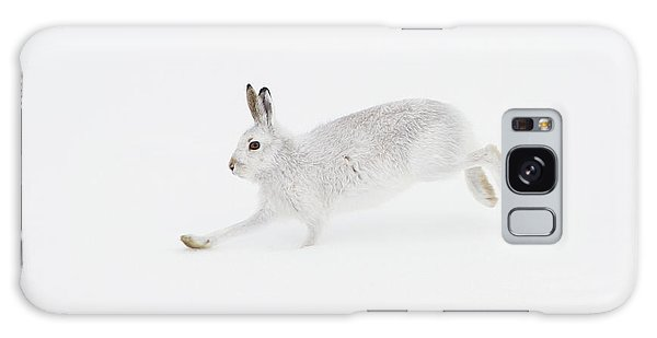 Mountain Hare Running Galaxy Case