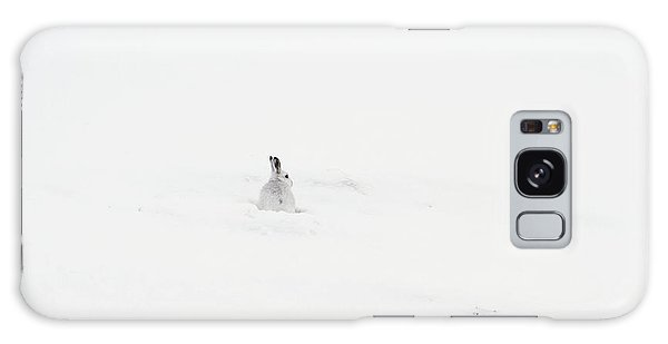 Mountain Hare Small In Frame Left Galaxy Case