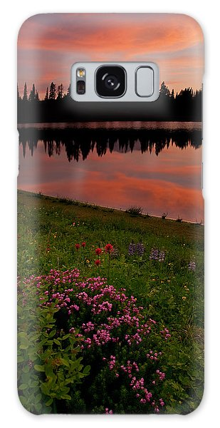 Heather Galaxy Case - Mountain Heather Reflections by Mike  Dawson