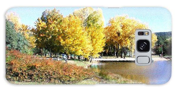 Mountain Lake Autumn Galaxy Case