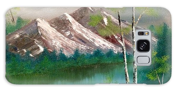 Galaxy Case featuring the painting Mountain Lake by Denise Tomasura